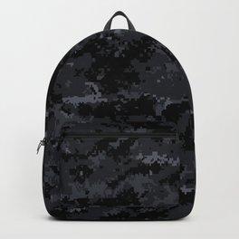 Pixelated Dark Grey Camouflage Backpack