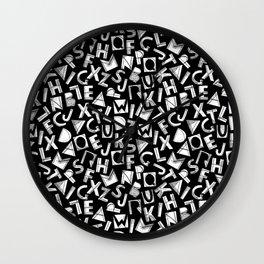 Typo Party - Black&White Wall Clock