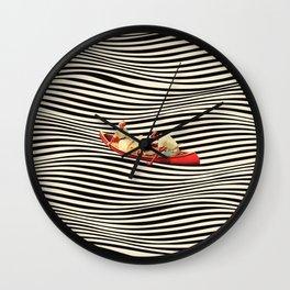 Illusionary Boat Ride 2 Wall Clock