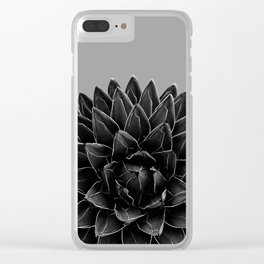 Gray Black Agave Chic #1 #succulent #decor #art #society6 Clear iPhone Case