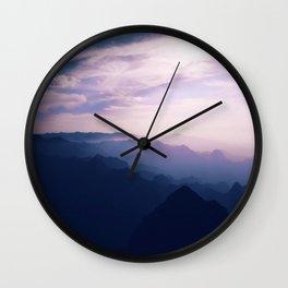 Soft Mountains Wall Clock