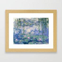 """Claude Monet """"Water Lilies(Nymphéas)"""" (9) 1916–19.jpg Framed Art Print"""
