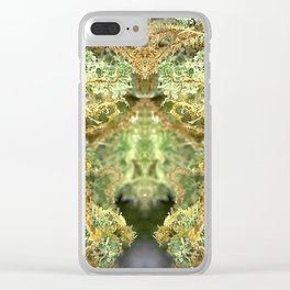 Orange Crush Trichome Monster Clear iPhone Case