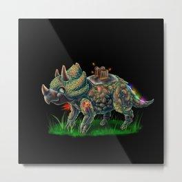 Triceratoast Metal Print