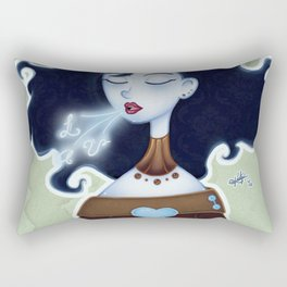 La Dama Azul Rectangular Pillow