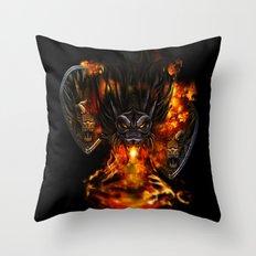 Dragon Negro DNIII Throw Pillow