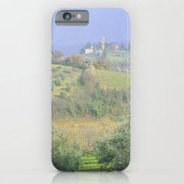Vineyards Tuscany - Italy - Landscape and Rural Art Photography iPhone Case