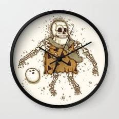 Mysterious fossil Wall Clock