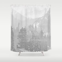Bear in the mountains Shower Curtain
