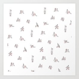 Rabbit Yoga Art Print