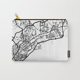 PANAMA CITY PANAMA BLACK CITY STREET MAP ART Carry-All Pouch