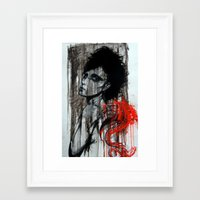 pain Framed Art Prints featuring Pain by Clayton Young