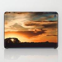 swedish iPad Cases featuring Swedish sunset by Mark W