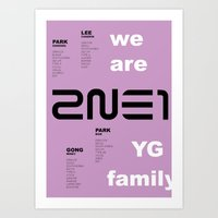 2ne1 Art Prints featuring we are YG: 2NE1 by Jose López
