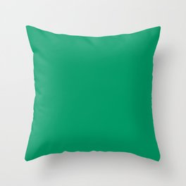 Simply Solid - Green Cyan Throw Pillow