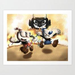Cuphead & Mugman Art Print