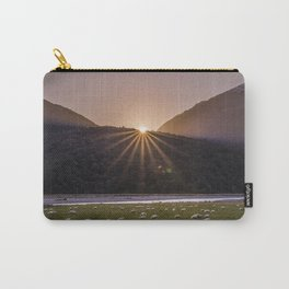 Sun setting over sheep Carry-All Pouch