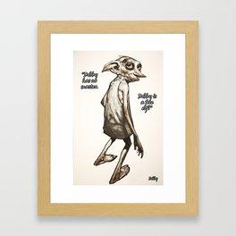 Dobby is a free elf Framed Art Print