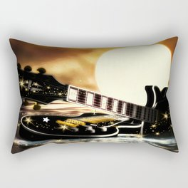 Gitarren bei Vollmond Rectangular Pillow