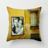 italy Throw Pillows featuring italy by sustici