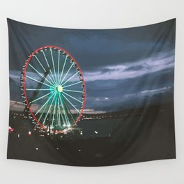 Seattle Night Ride Wall Tapestry