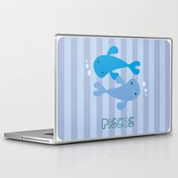 pisces Laptop & iPad Skins featuring Pisces by Esther Ilustra
