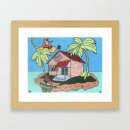 Kame Brib Framed Art Print