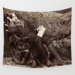 Oscar Wilde Lounging Portrait Wall Tapestry