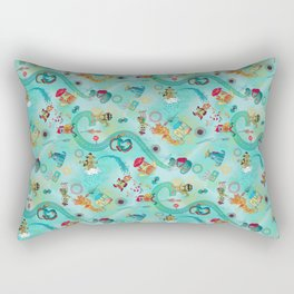 Alien Hitchhikers Rectangular Pillow