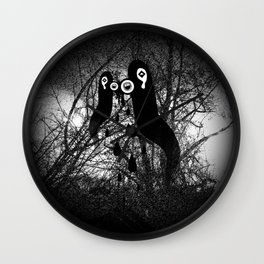 1000 days in the woods II Wall Clock