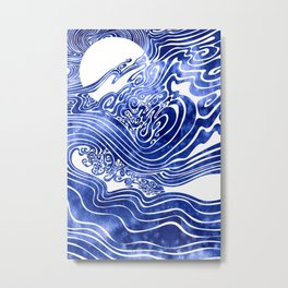 Churn The Deep Metal Print
