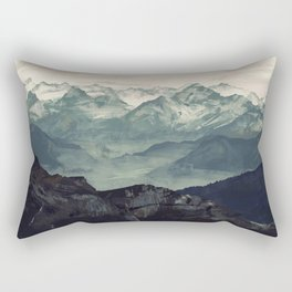 Mountain Fog Rectangular Pillow