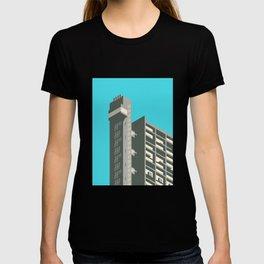 Trellick Tower London Brutalist Architecture - Cyan T-shirt