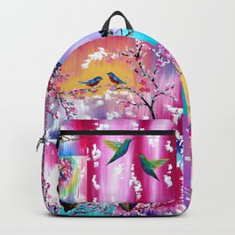 Pink collage Backpack