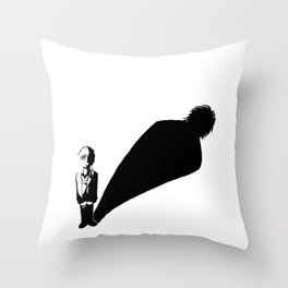 Two sides of Eren Jaeger Throw Pillow
