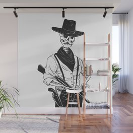 Sheriff with mustache and rifle Wall Mural
