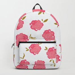 Watercolor roses pattern Backpack