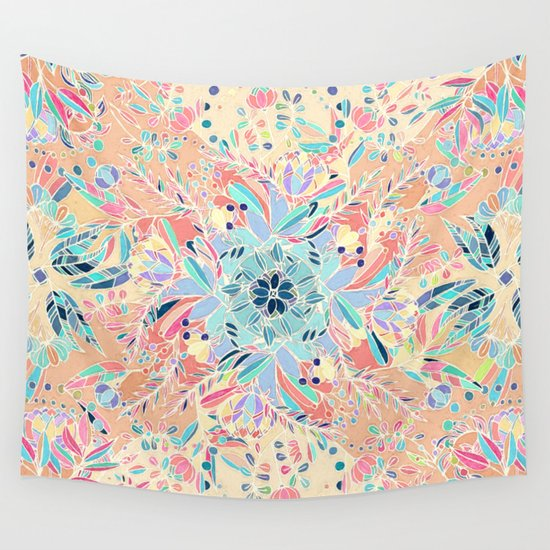 Paradise Doodle Wall Tapestry