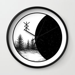 Space Forest Wall Clock