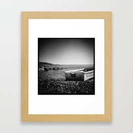 On an island in Maine Framed Art Print