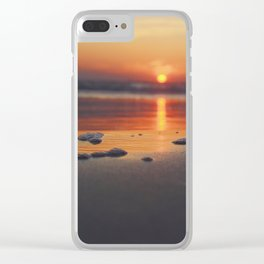 Sandy Sunset- #landscape #beach #photography Clear iPhone Case