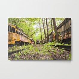 Abandoned Trolley Cemetery Metal Print