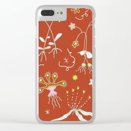 Red Flora of Planet Hinterland Clear iPhone Case