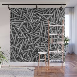 Pencil it in B&W / 3D render of hundreds of pencils in black and white Wall Mural