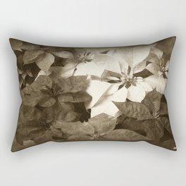 Mixed color Poinsettias 1 Antiqued Rectangular Pillow