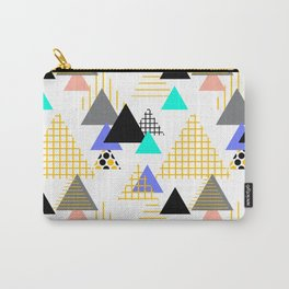 Geometric elements Memphis Postmodern Retro style 80-90s. Carry-All Pouch
