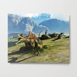 Ichthyovenator Dinosaur Metal Print