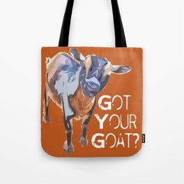 """Got Your Goat?"" ~ Nigerian Dwarf Goat Pop Art Photography!  Gotta Love the Goaty-Woaties! Tote Bag"