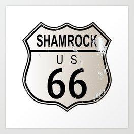 Shamrock Route 66 Art Print