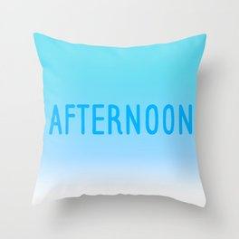 Hello Afternoon Throw Pillow